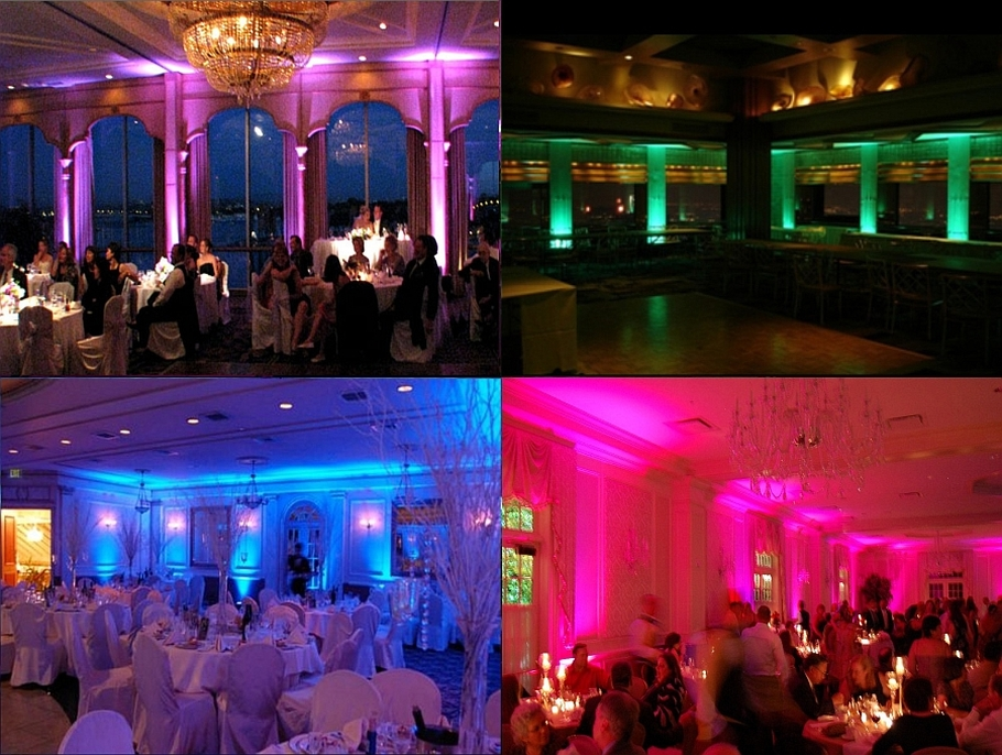 San Diego Up Lighting Rental, Wedding DJ lights